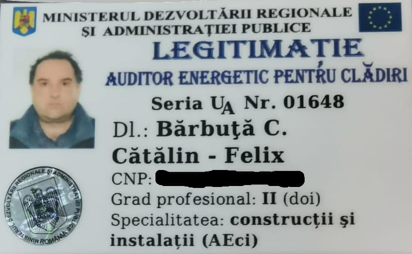 Auditor energetic atestat